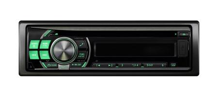 silueta coche: Coche moderno sistema de audio