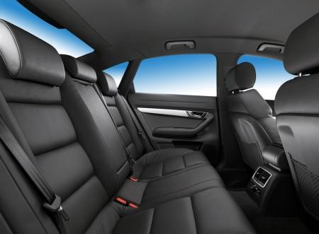 car seat: abitacolo, luoghi passeggeri in pelle da vicino