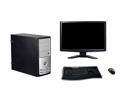 Modern computer and accessories photo