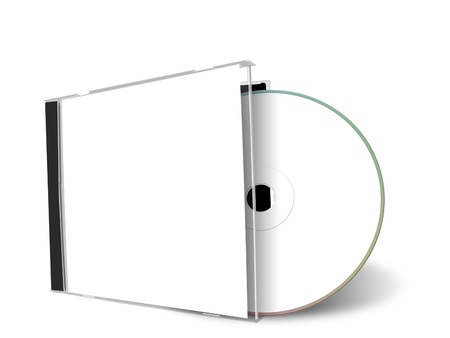 blank cd cover isolated on a white background photo