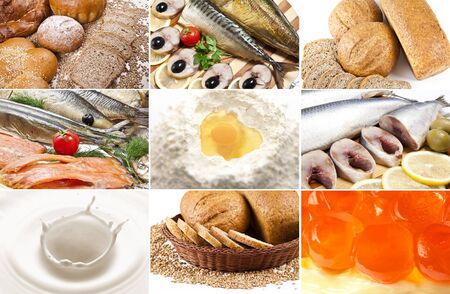 healthy food collage photo