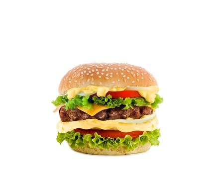 mahonesa: hamburguesa con queso en blanco