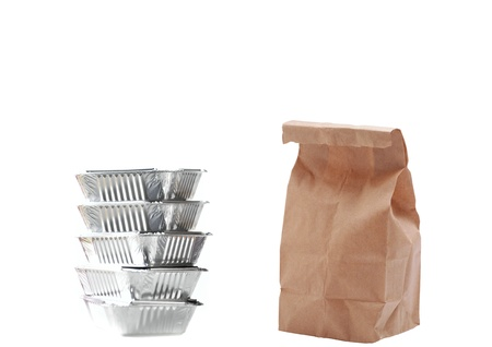 Paper bags and fast food photo