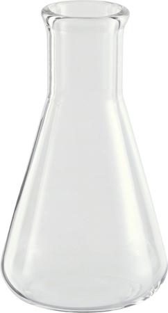 Test-tube isolated on white  Laboratory glassware close up photo