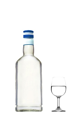 tipple: Bottle and glass of vodka