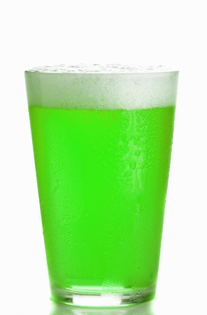 Green Beer glass isolated
