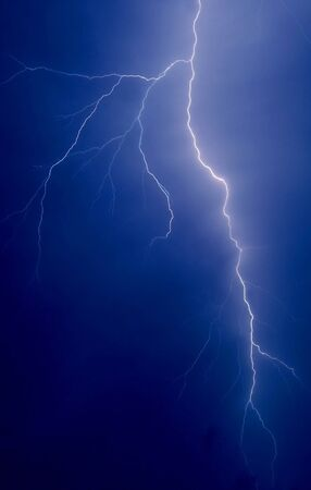 lightning strike in the darkness close up photo