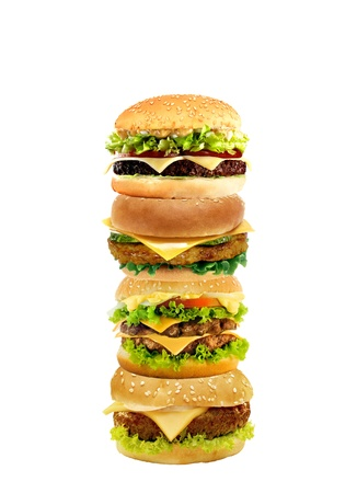 Hamburgers and cheeseburgers photo