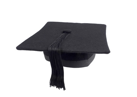 alumna: Student hat isolated Stock Photo