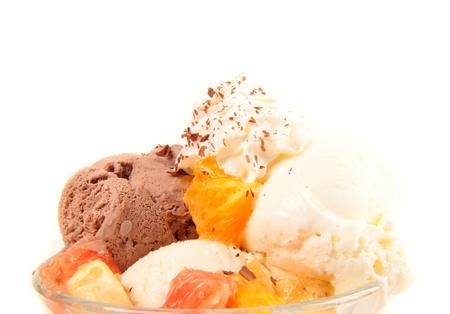 splurge: Ice Cream close-up Stock Photo