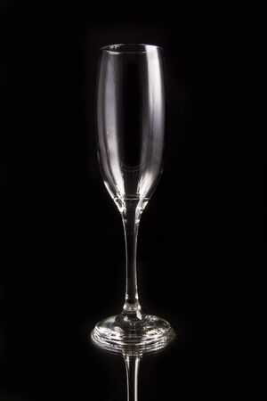 Glass on black photo