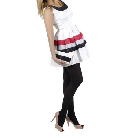 girl in nice dress with a bag Stock Photo - 14059822