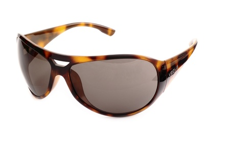 Stylish sunglasses isolated on white photo