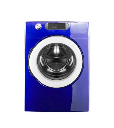 blue washing machine isolated on white background Stock Photo - 14092467