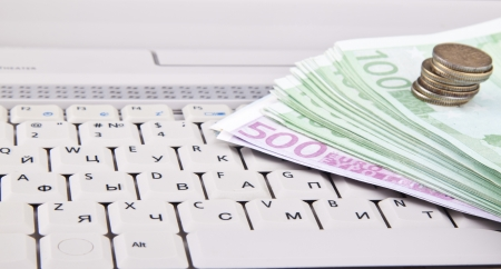 money on keyboard photo