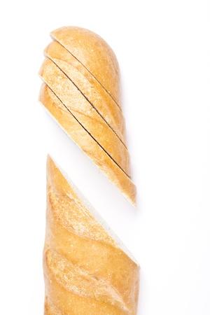 pone: Fresh baguette, sliced