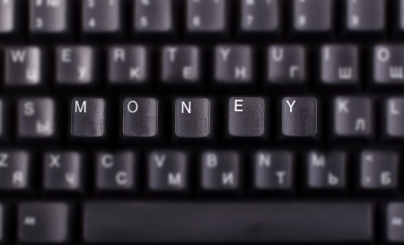 money - Very sharp image. Keyboad Keys photo