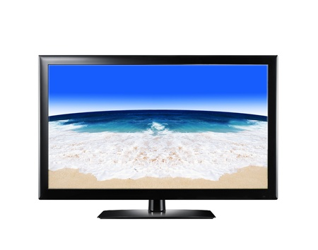 LCD display showing sandy beach Stock Photo - 14092468