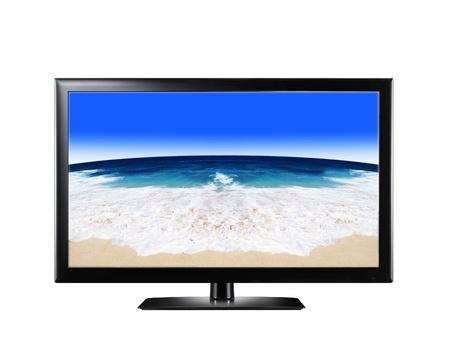 LCD display showing sandy beach Stock Photo - 14092468