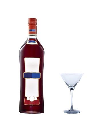 Martini bottle photo