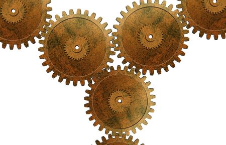 Industrial gears detail photo