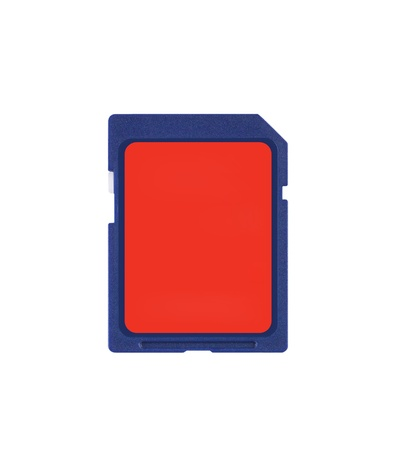 digital memory: Secure Digital memory card on white background