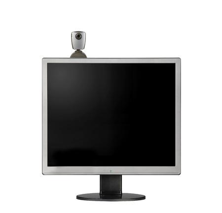 web camera on monitor