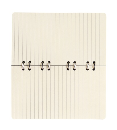 paper spiral notebook isolated photo