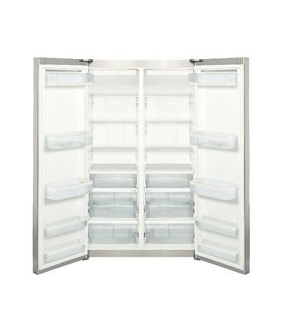fridge with open door isolated on white Stock Photo - 14092540