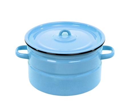 recipient: Pot blue isolated