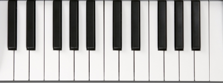Piano keyboard close-up isolated music astract arrangement photo