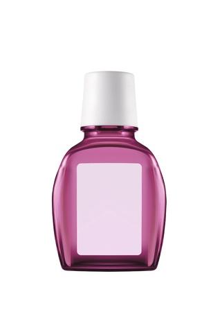 Pink plastic bottle isolated Stock Photo - 14081651