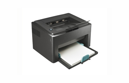 multi function printer isolated photo