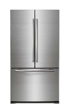 fridge: Modern refrigerator Stock Photo