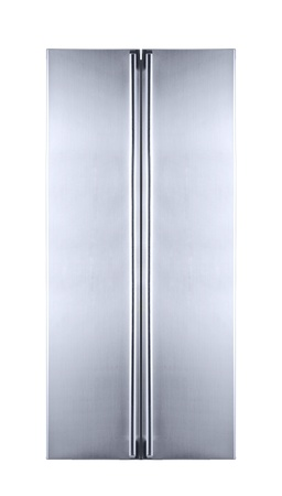 double door freezer isolated photo