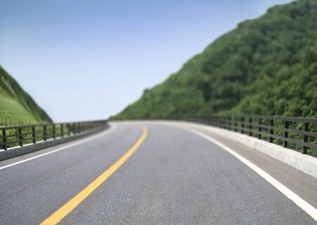 Picture of empty countryside road photo