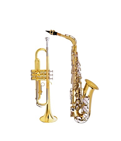 saxophone and cornet Stock Photo - 14086530