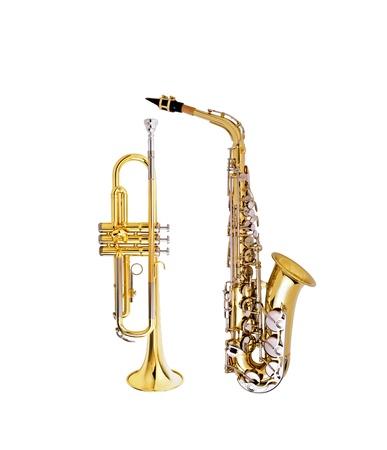 saxophone and cornet photo