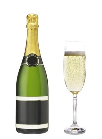 butelka szampana Zdjęcie Seryjne - 14086537