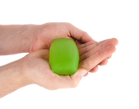 anti bacterial soap: hands with soap