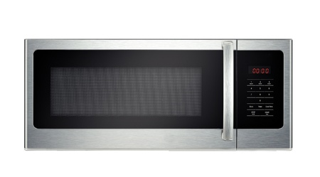 defrost: Modern microwave oven isolated Stock Photo