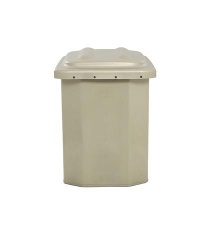 receptacle: trash isolated
