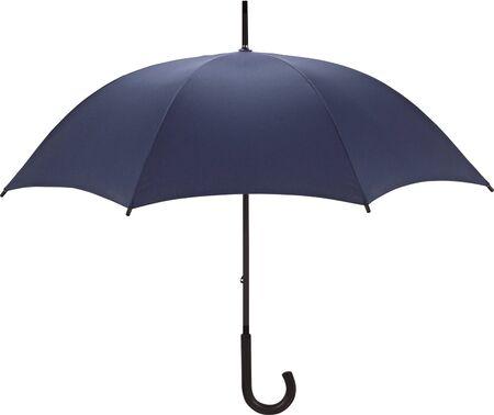 blue umbrella isolated on a white background photo