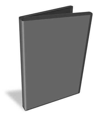 rewrite: black DVD box isolated on white background