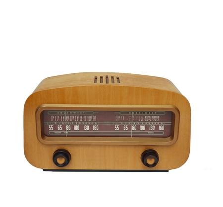 Vintage fashioned radio isolated photo