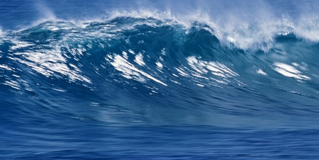 blue ocean wave can be used as background photo
