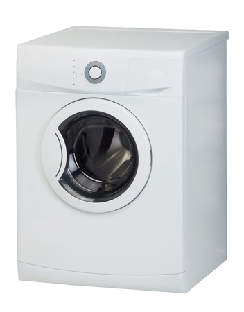 Washing machine isolated on a white background photo
