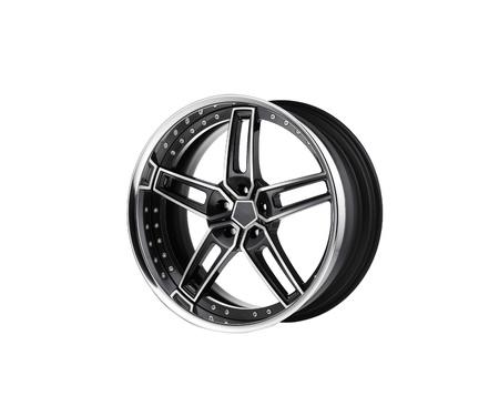 alloy rim on white background close up Stock Photo - 14086255