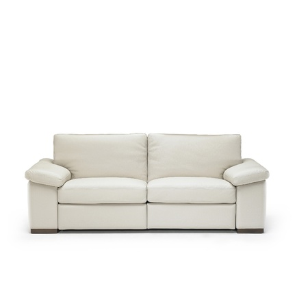 white leather sofa isolated on white background photo