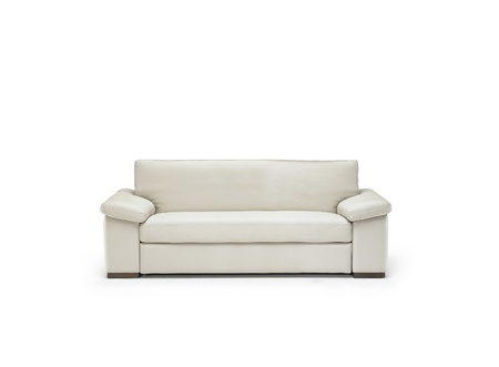 white sofa isolated photo